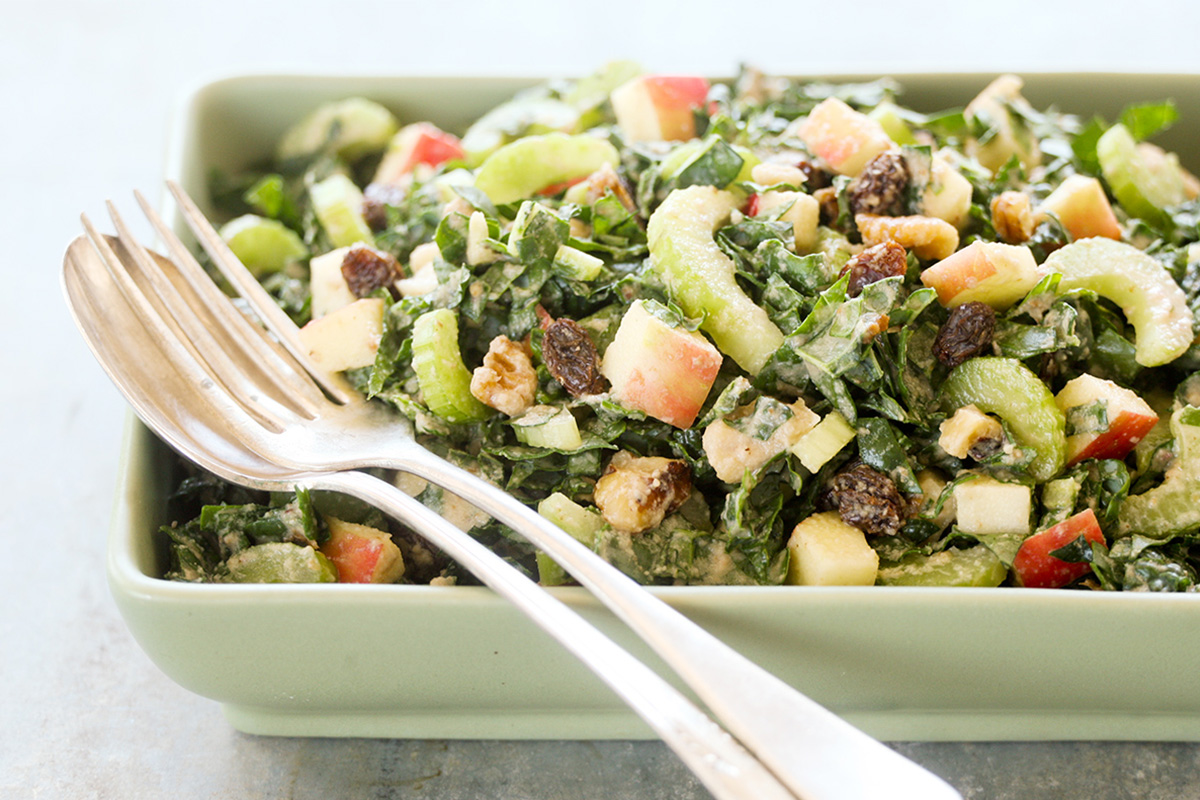 Red Delicious Kale Waldorf Salad
